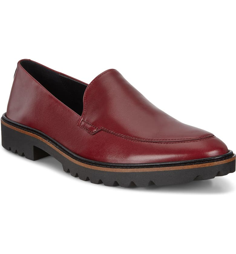 ECCO Incise Tailored Loafer, Main, color, SYRAH LEATHER