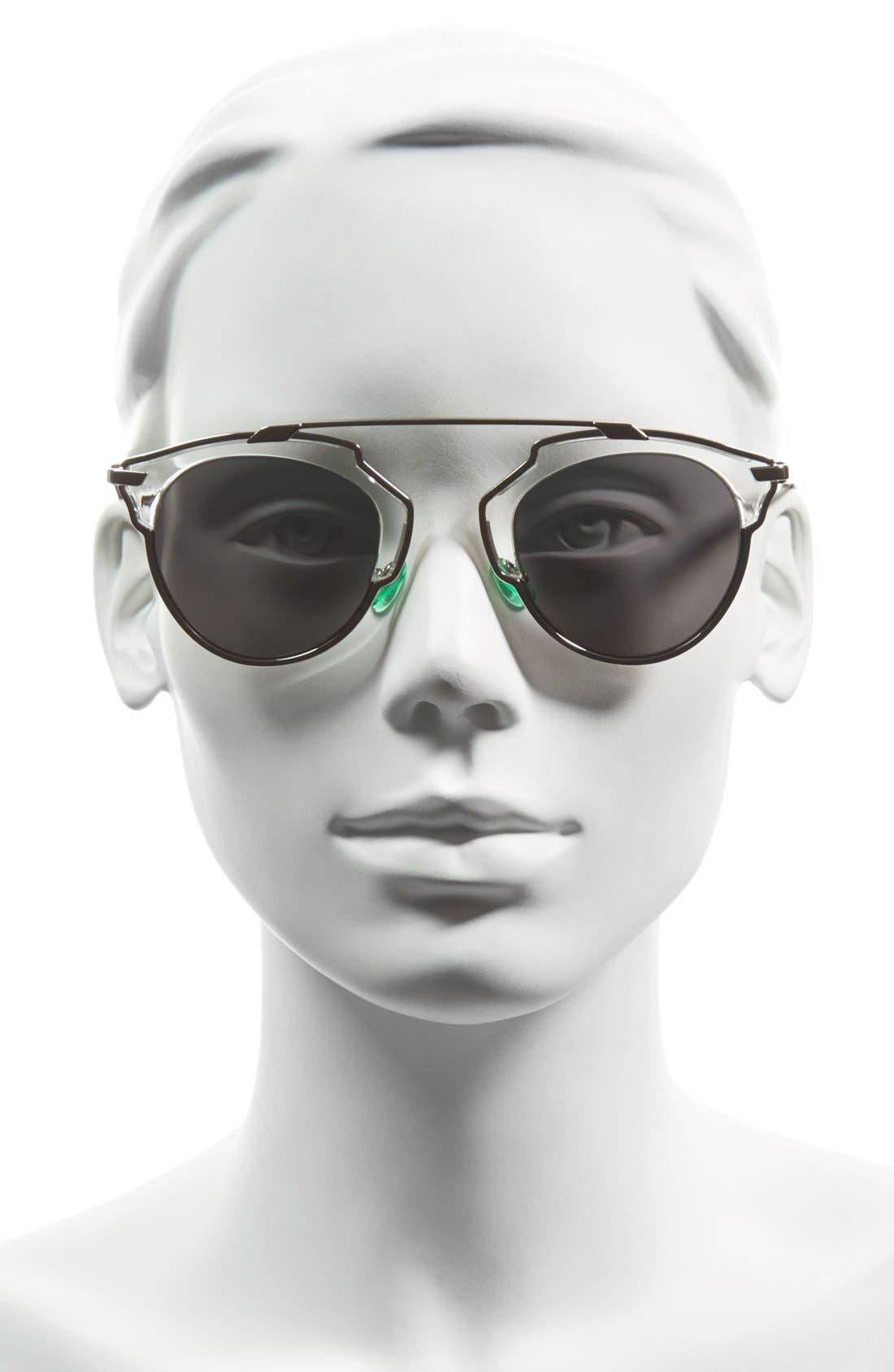 ,                             So Real 48mm Brow Bar Sunglasses,                             Alternate thumbnail 23, color,                             022