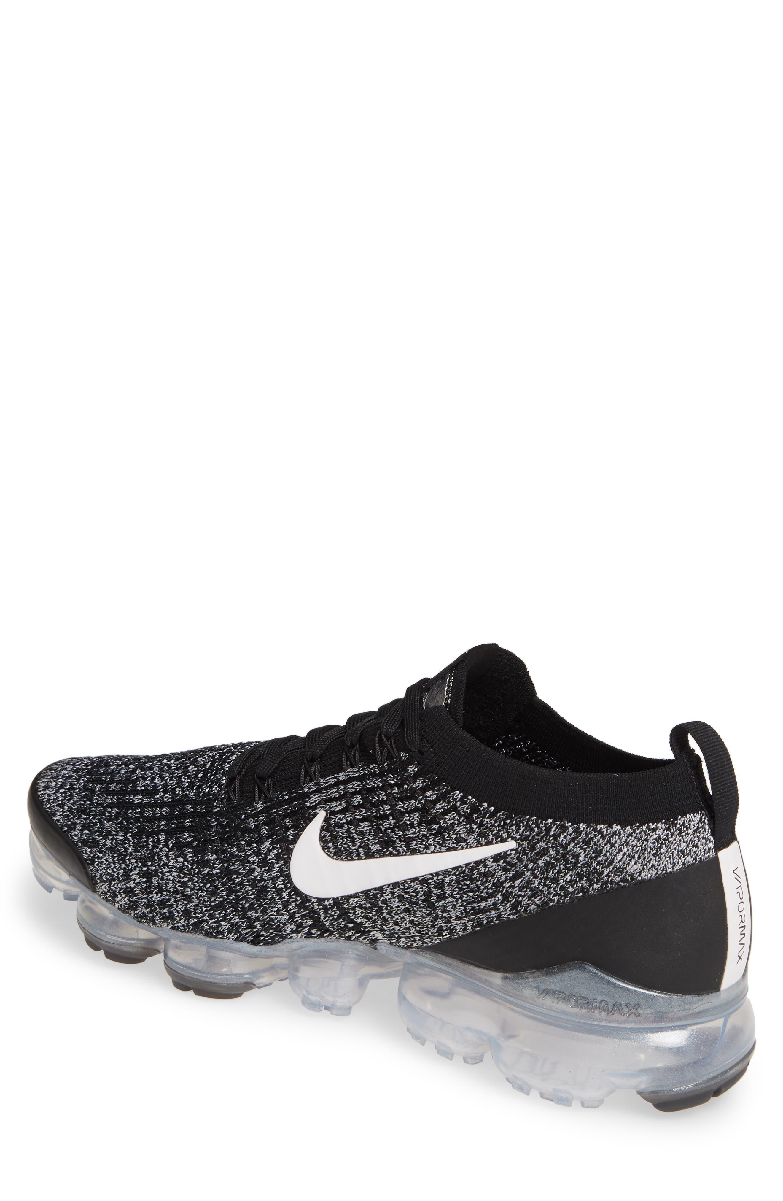 ,                             Air VaporMax Flyknit 3 Sneaker,                             Alternate thumbnail 2, color,                             BLACK/ WHITE/ METALLIC SILVER