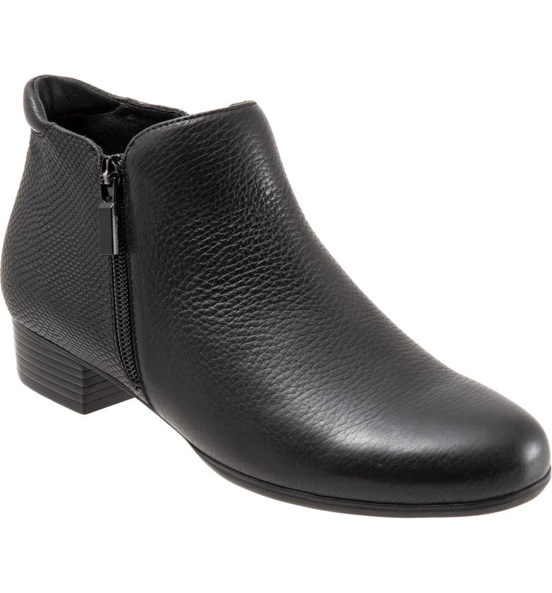 TROTTERS Major Bootie, Main, color, BLACK COMBO LEATHER