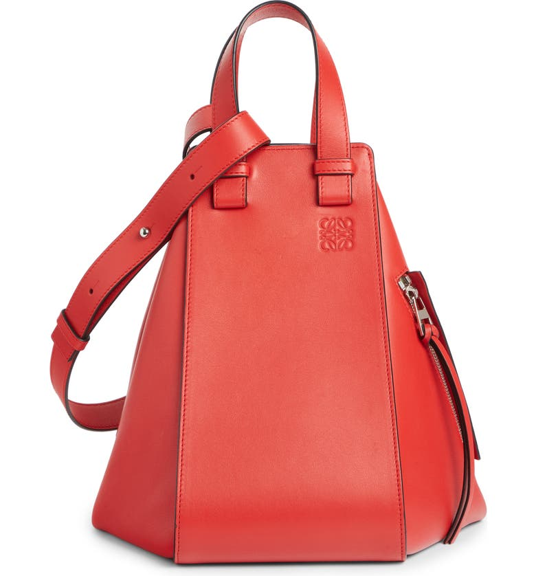 LOEWE Hammock Small Leather Hobo, Main, color, SCARLET RED