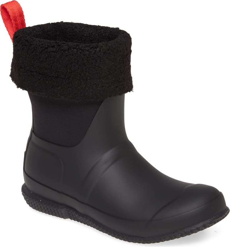 HUNTER Original Insulated Slipper Boot, Main, color, BLACK