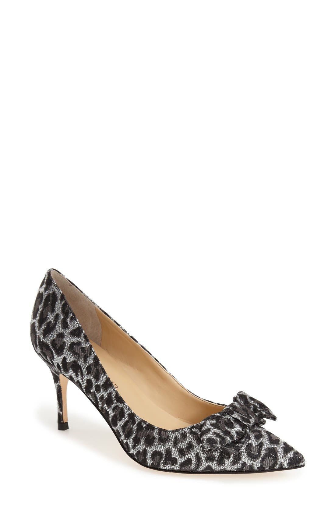 ,                             'Benny' Pointy Toe Bow Pump,                             Main thumbnail 6, color,                             020