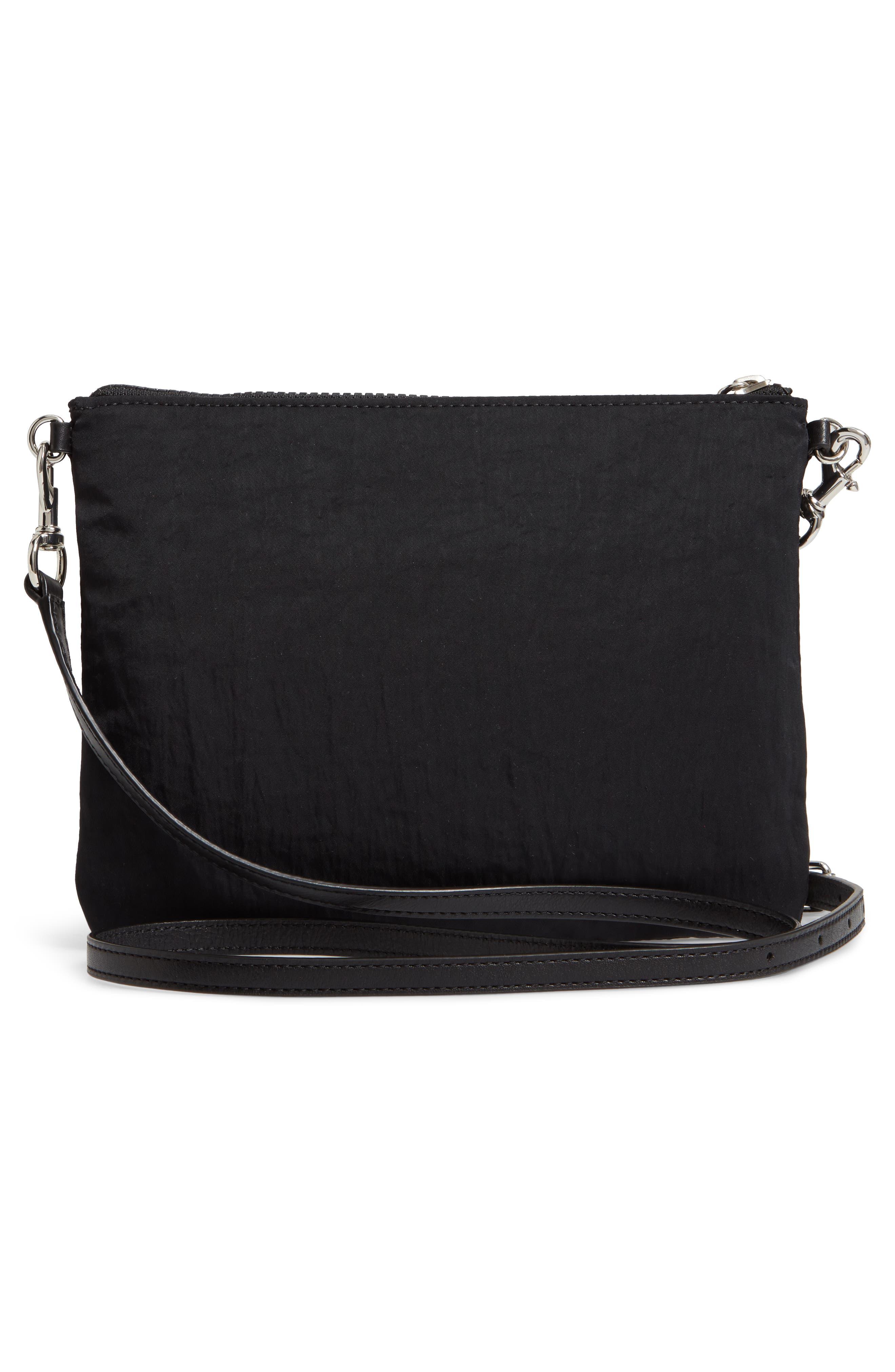 ,                             Jon Studded Nylon Crossbody Bag,                             Alternate thumbnail 4, color,                             001