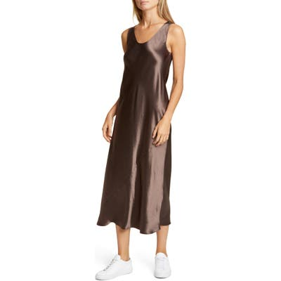 Max Mara Leisure Talete Satin Midi Tank Dress, Brown