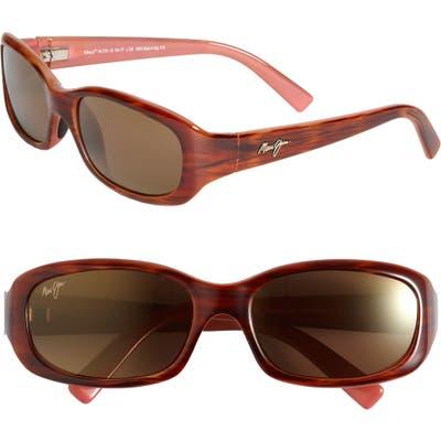 Maui Jim Punchbowl 5m Polarizedplus2 Rectangular Sunglasses - Tortoise Pink