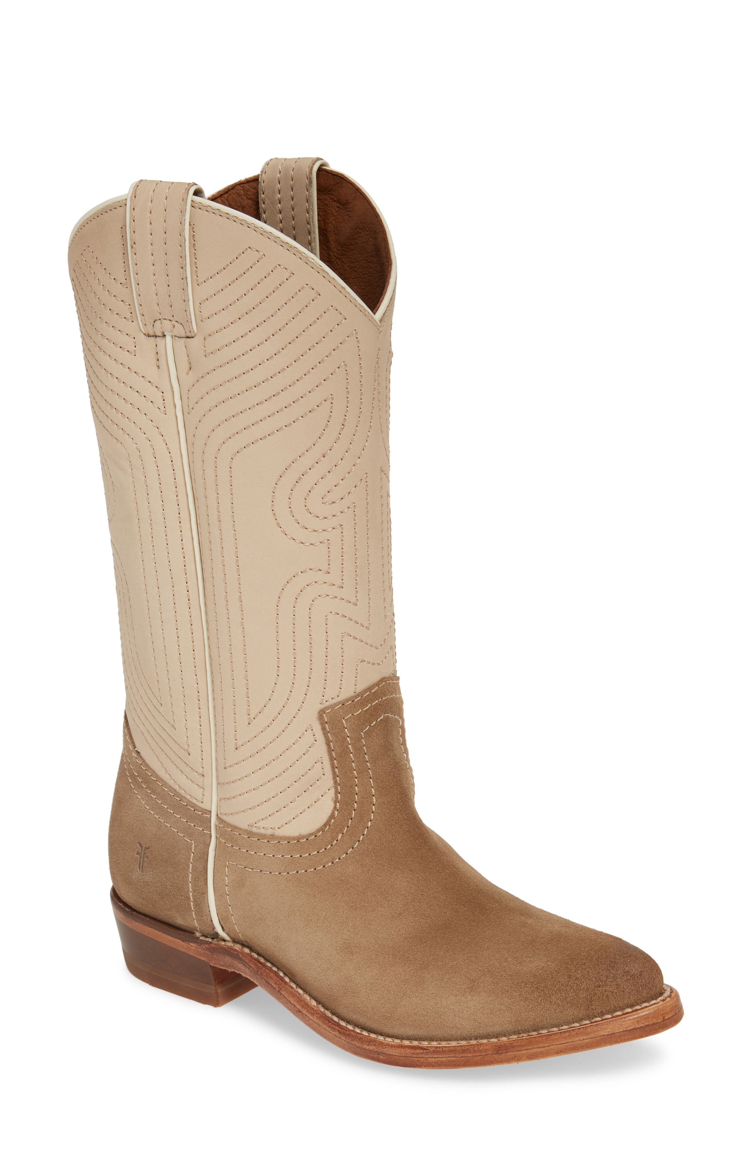 Frye Billy Western Boot, Ivory