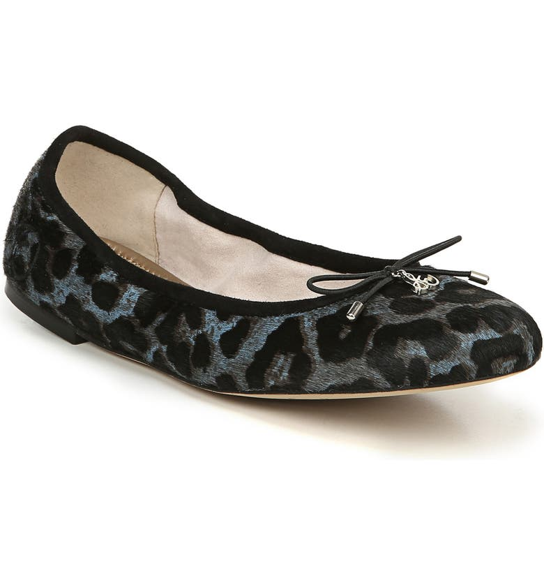 SAM EDELMAN 'Felicia' Flat, Main, color, MARINA BLUE MULTI CALF HAIR