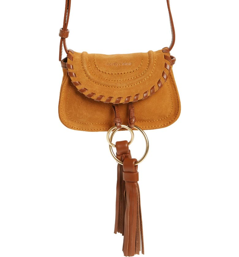 SEE BY CHLOÉ Nano Polly Leather Crossbody Bag, Main, color, 700