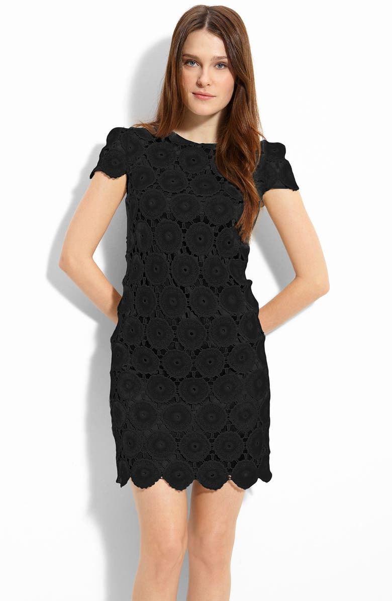SUZI CHIN FOR MAGGY BOUTIQUE Lace Shift Dress, Main, color, 001