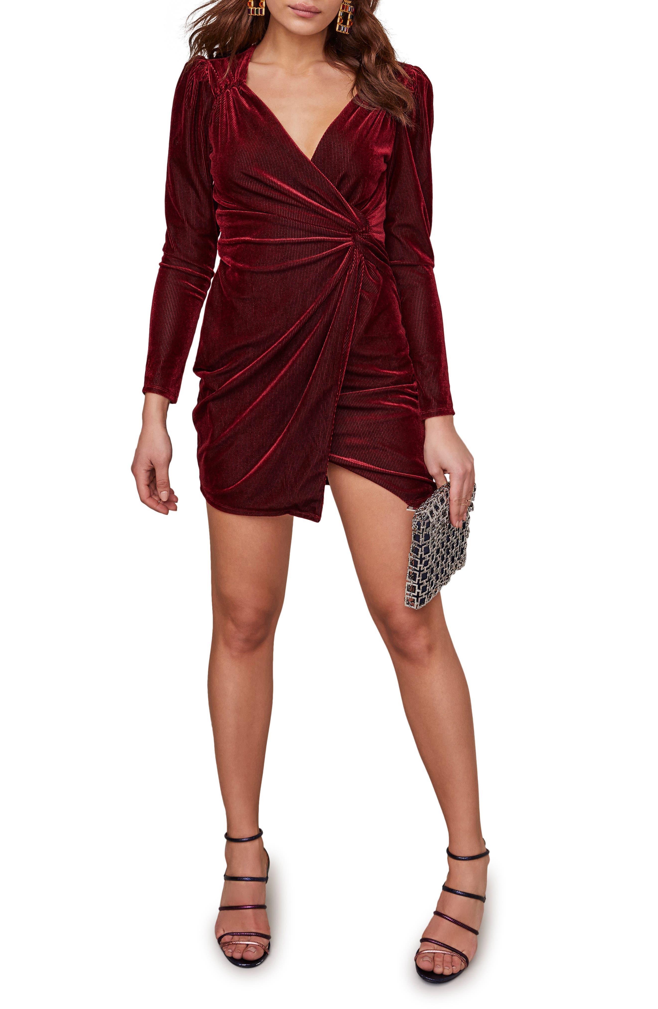 ASTR the Label Lanita Twist Front Long Sleeve Minidress