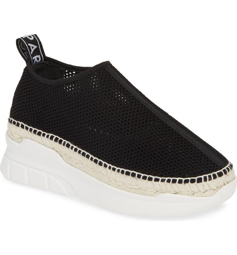 KENZO K-Lastic Espadrille Sneaker, Main, color, BLACK