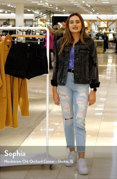Paperbag High Waist Nonstretch Denim Shorts, sales video thumbnail