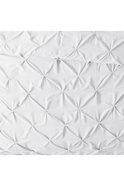 Image of IENJOY HOME Home Collection Premium Ultra Soft 3-Piece Pinch Pleat Duvet Cover Set - White - King / California King