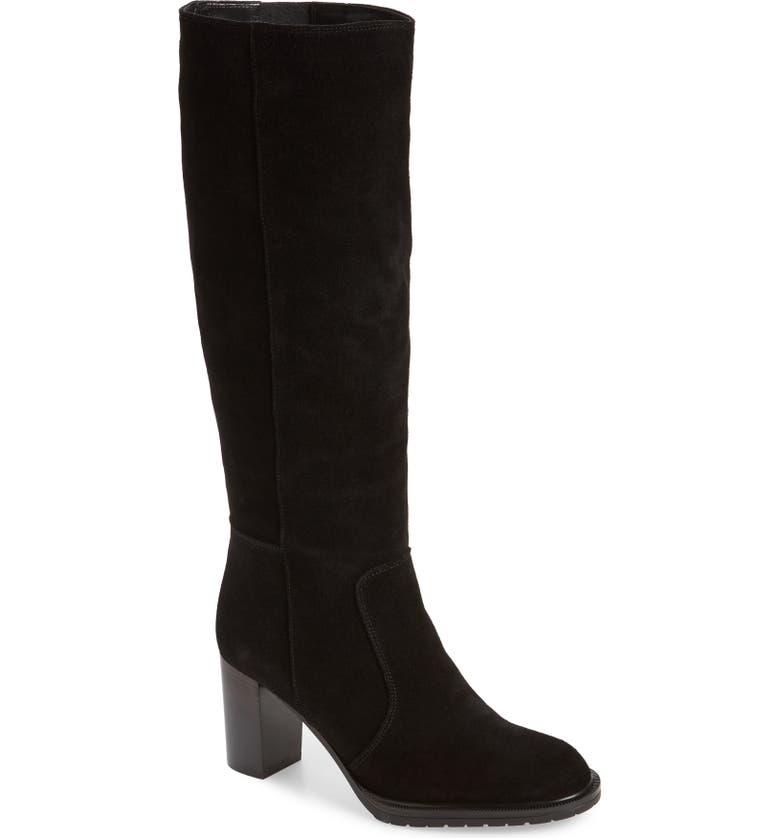 AQUATALIA Breanna Weatherproof Knee High Boot, Main, color, BLACK