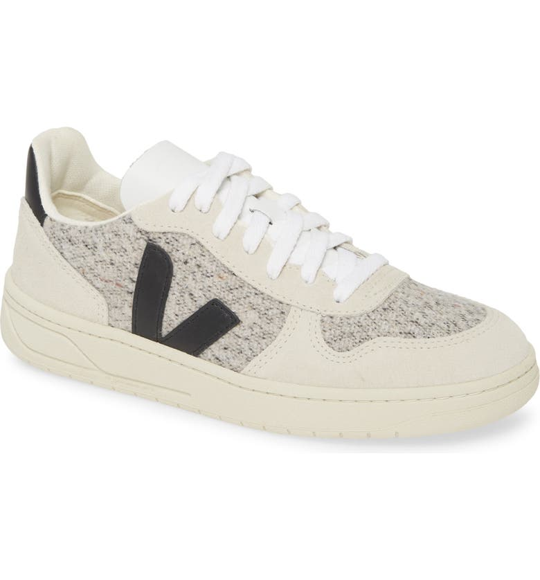 VEJA V-10 Sneaker, Main, color, SNOW/ BLACK
