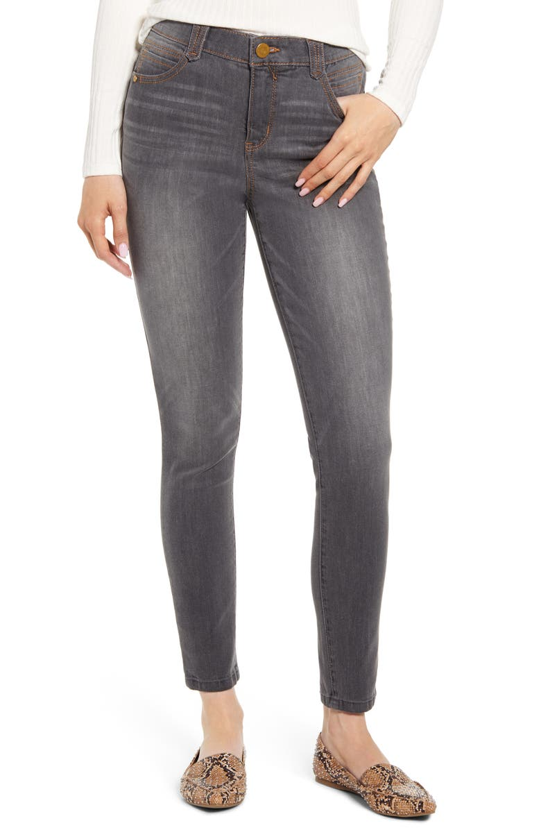 WIT & WISDOM Ab-Solution High Waist Ankle Jeggings, Main, color, GY- GREY