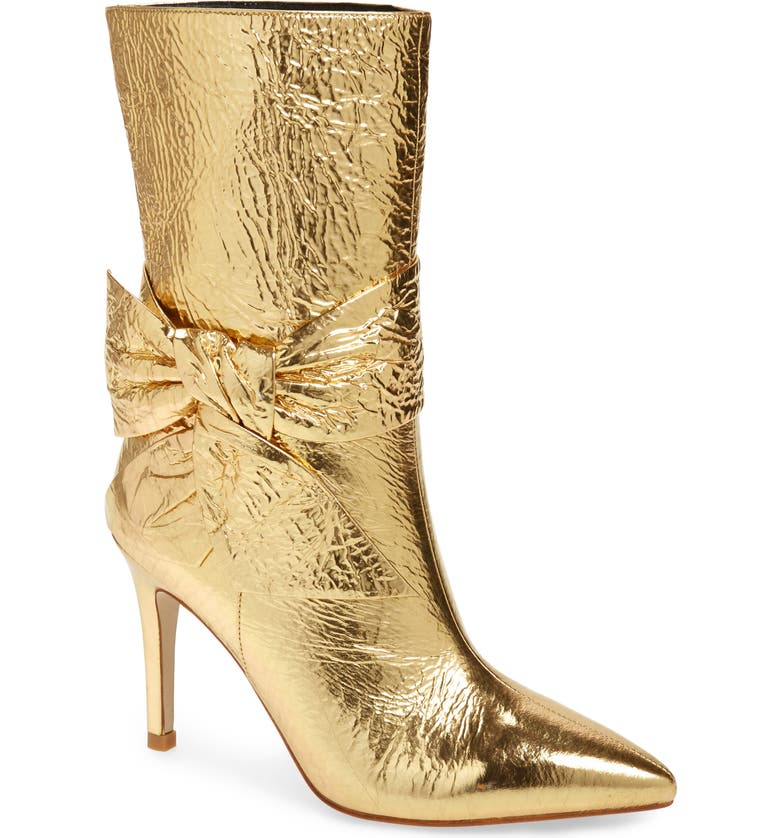 JEFFREY CAMPBELL Femme Bootie, Main, color, GOLD CRINKLE LEATHER