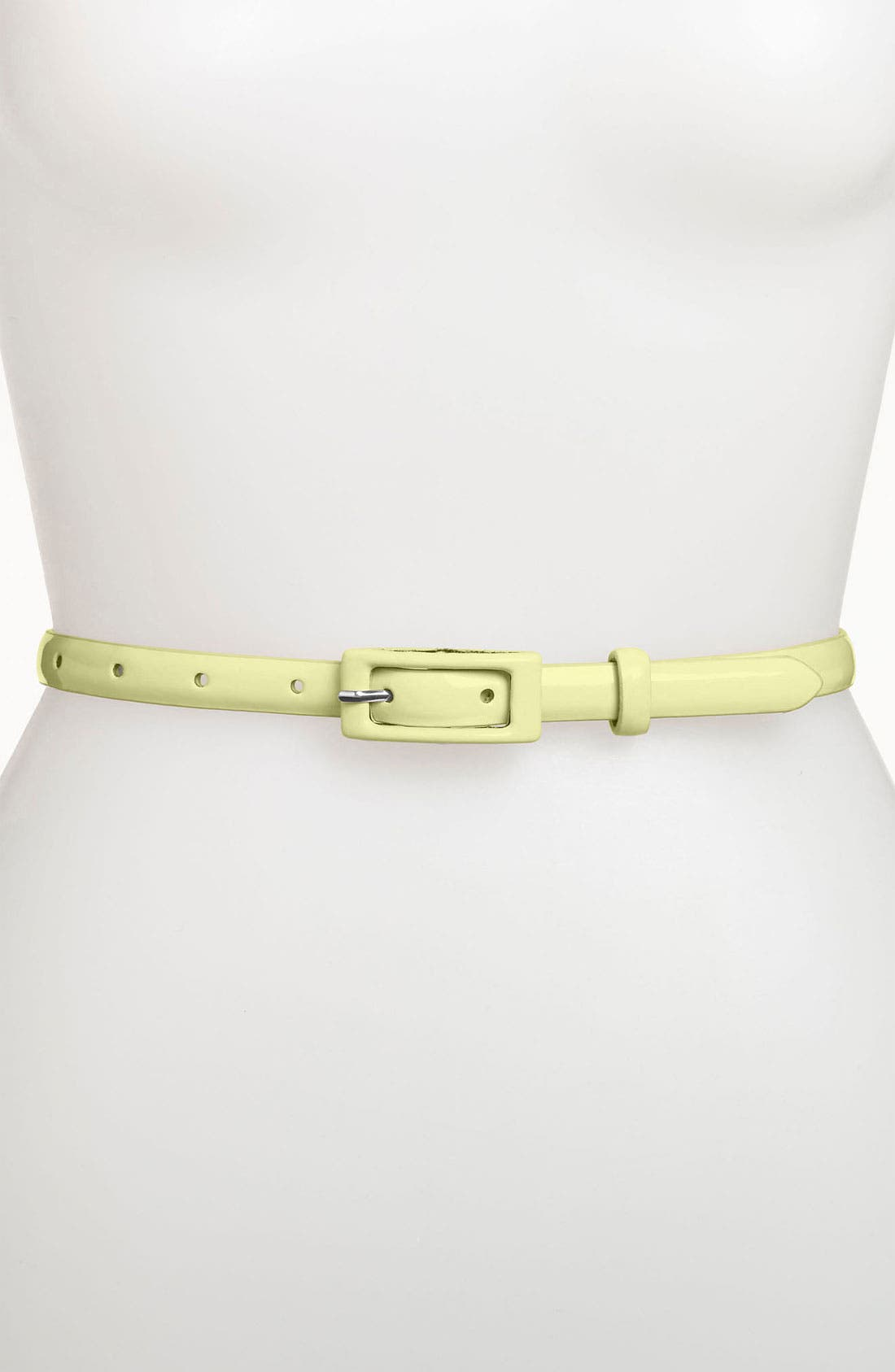 ,                             'Updated' Skinny Patent Belt,                             Main thumbnail 49, color,                             741