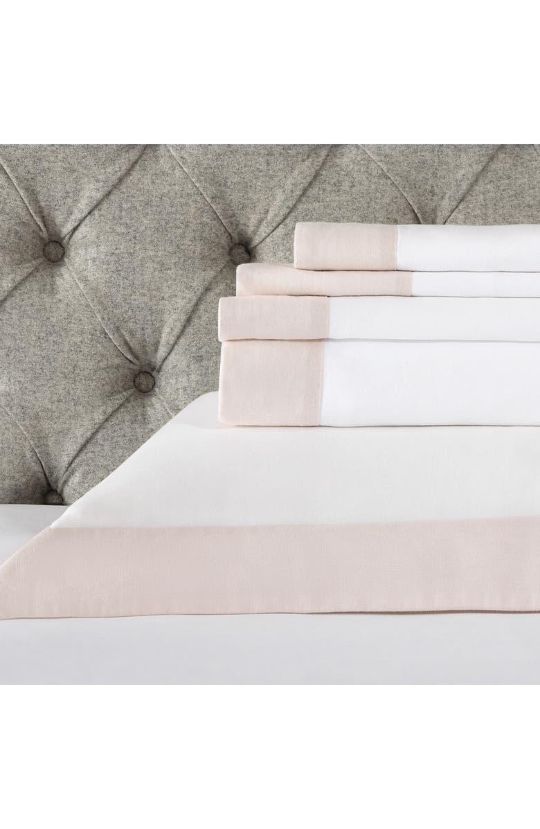 THE WHITE COMPANY Portobello 200 Thread Count Flat Sheet, Main, color, 100