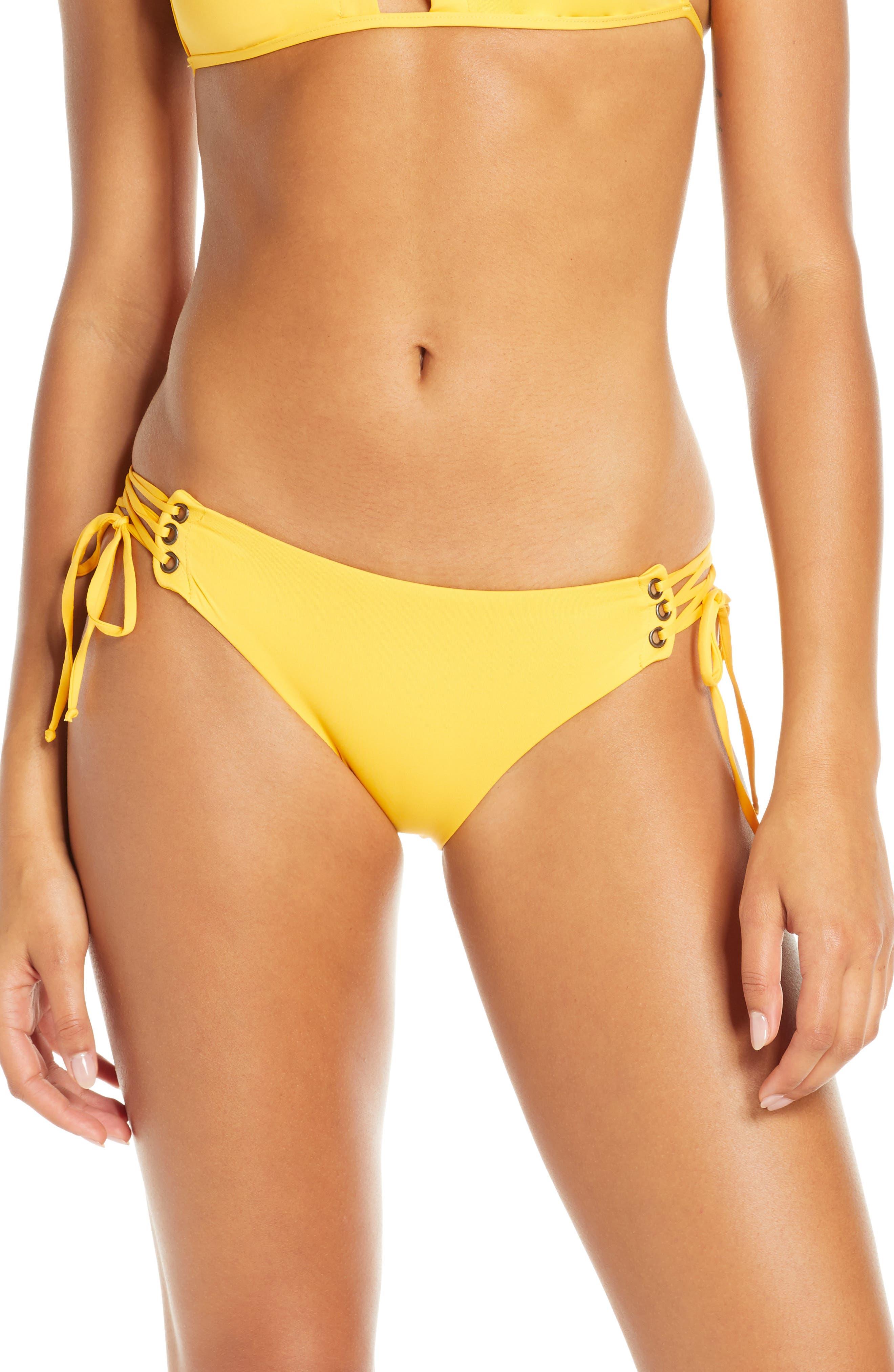 Isabella Rose Home Side Tie Bikini Bottoms, Yellow
