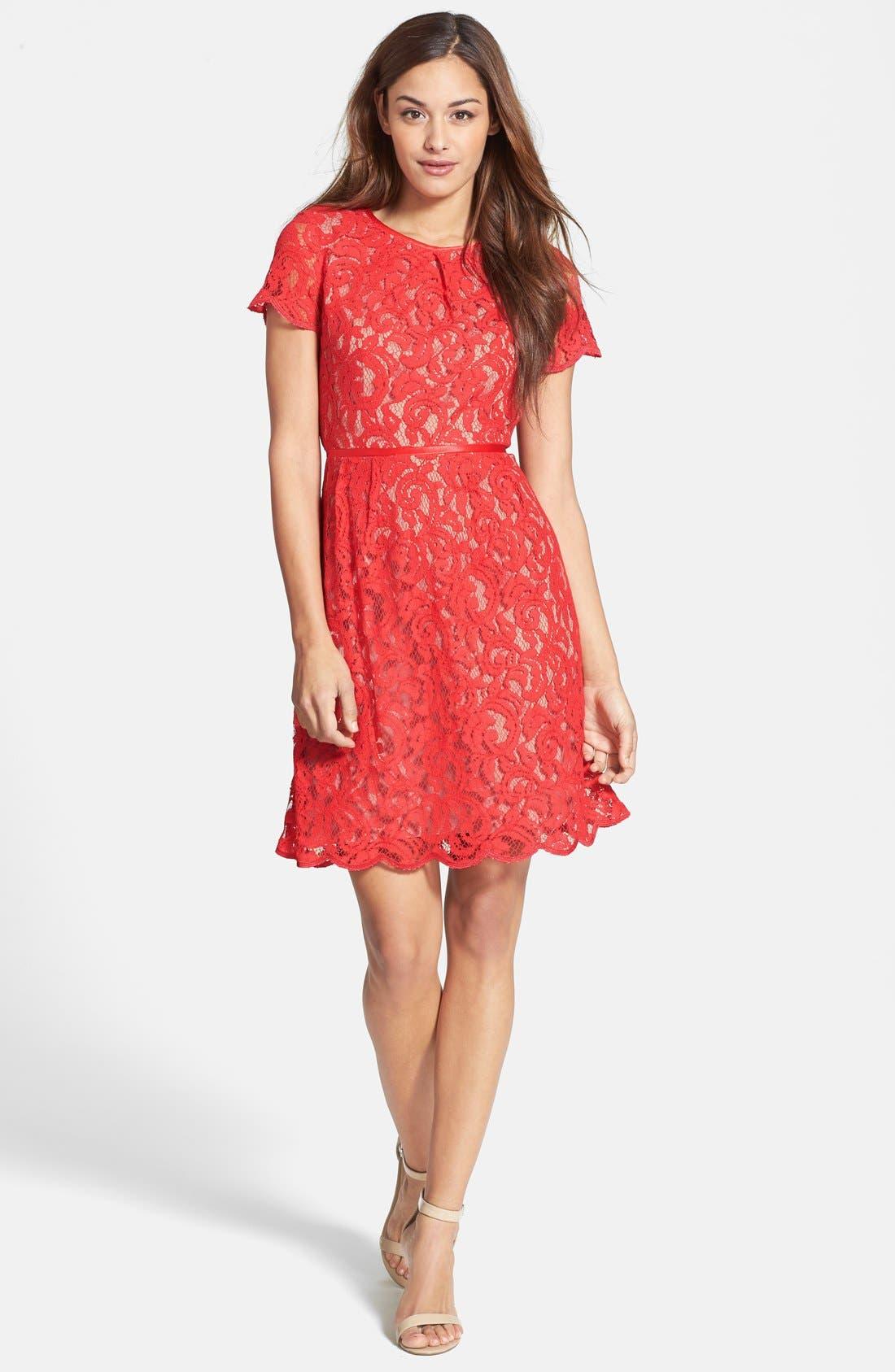 ,                             Scalloped Lace Dress,                             Alternate thumbnail 17, color,                             600