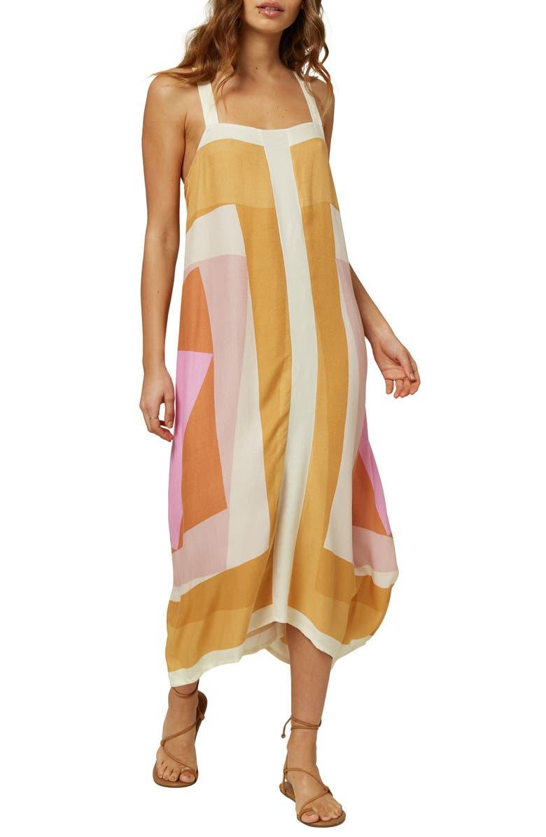 O'NEILL Miranda Sleeveless Midi Dress, Main, color, 100