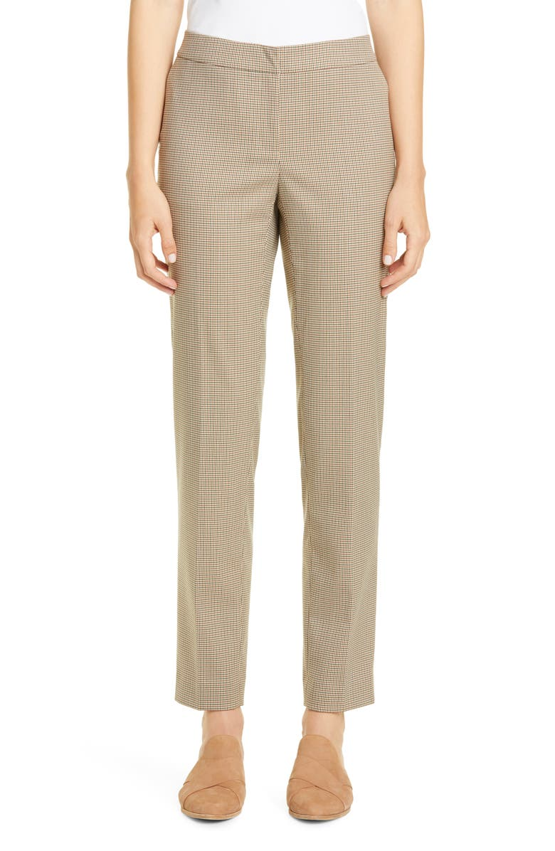 LAFAYETTE 148 NEW YORK Manhattan Houndstooth Slim Pants, Main, color, MELBA MULTI