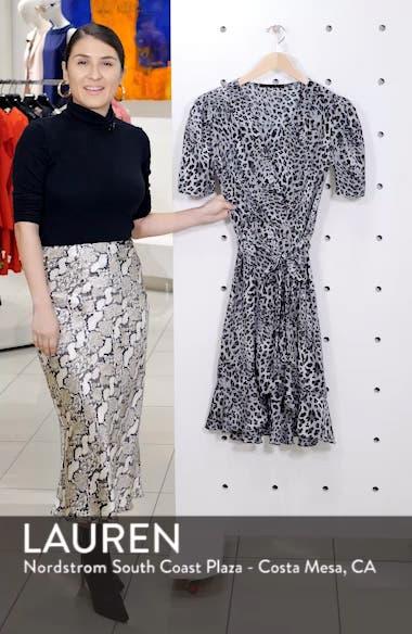 Linda Animal Print Faux Wrap Dress, sales video thumbnail
