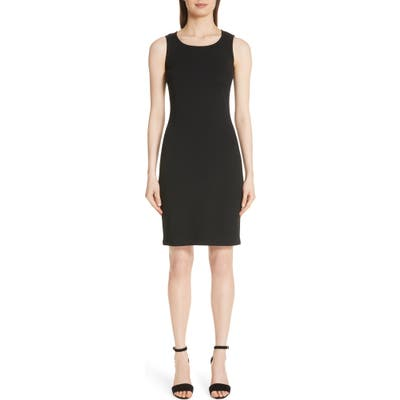 St. John Collection Sleeveless Milano Knit Dress, Black