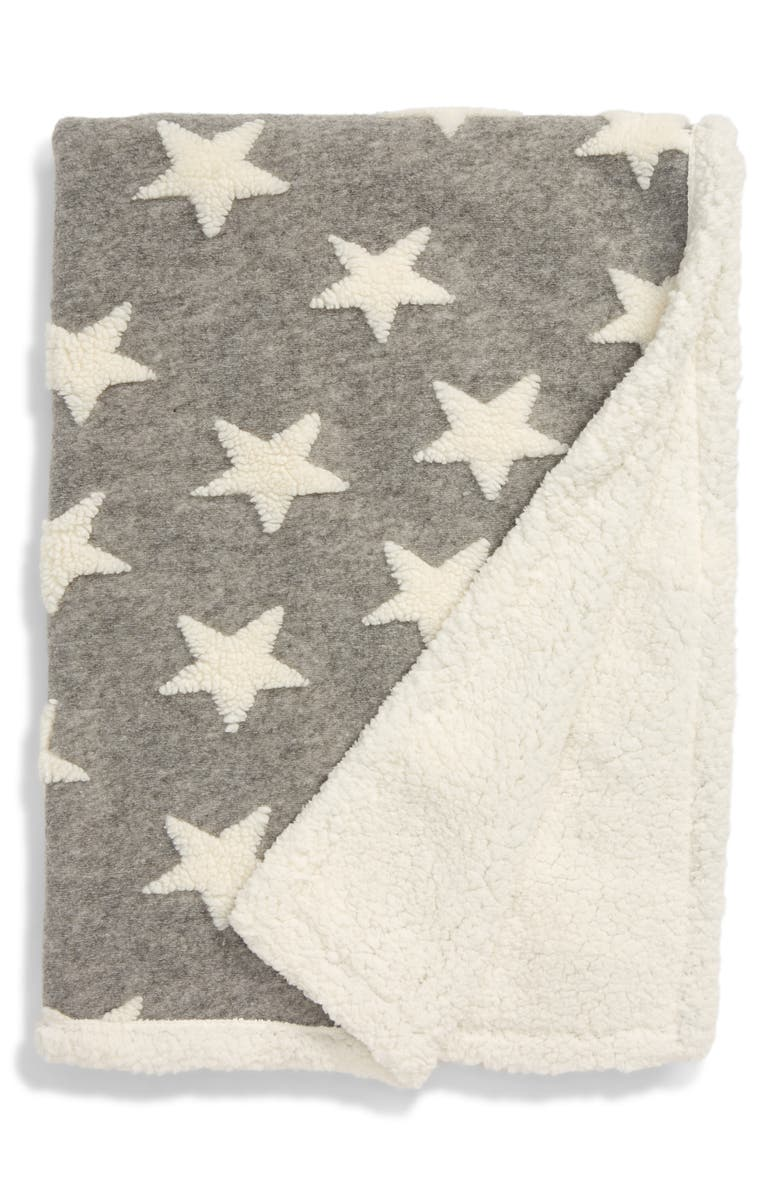 NORDSTROM Cozy Star Fleece Blanket, Main, color, 030