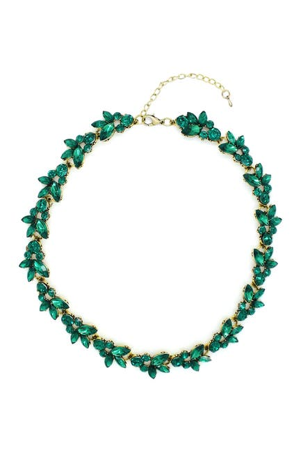Image of Eye Candy Los Angeles Green Leaf Necklace