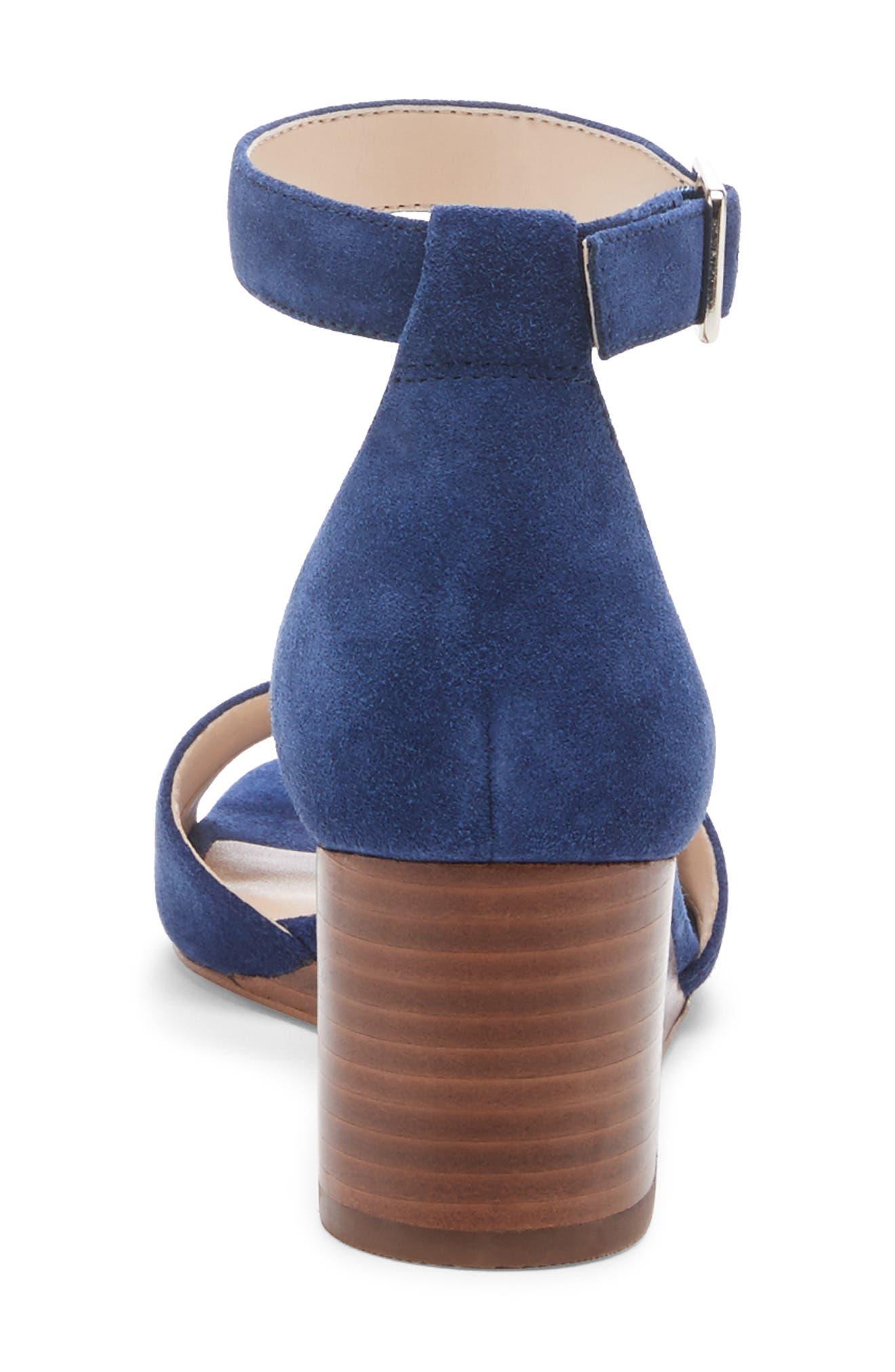 ,                             Kenia Wedge Sandal,                             Alternate thumbnail 7, color,                             BLUE JEAN SUEDE