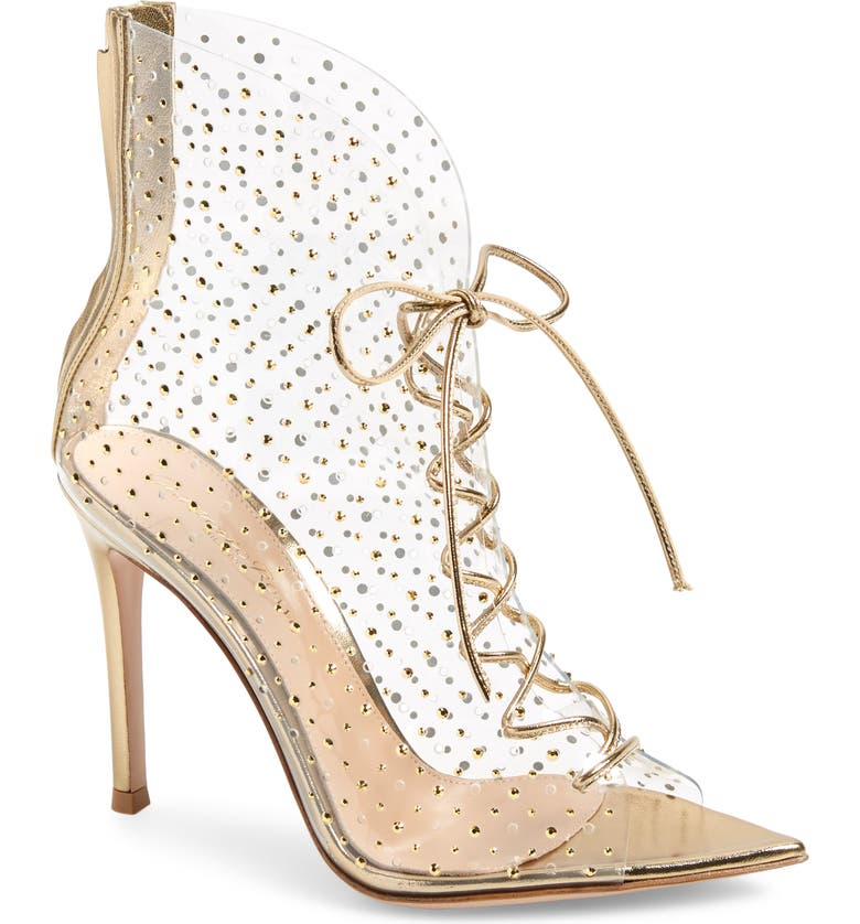 GIANVITO ROSSI Translucent Lace-Up Bootie, Main, color, 711