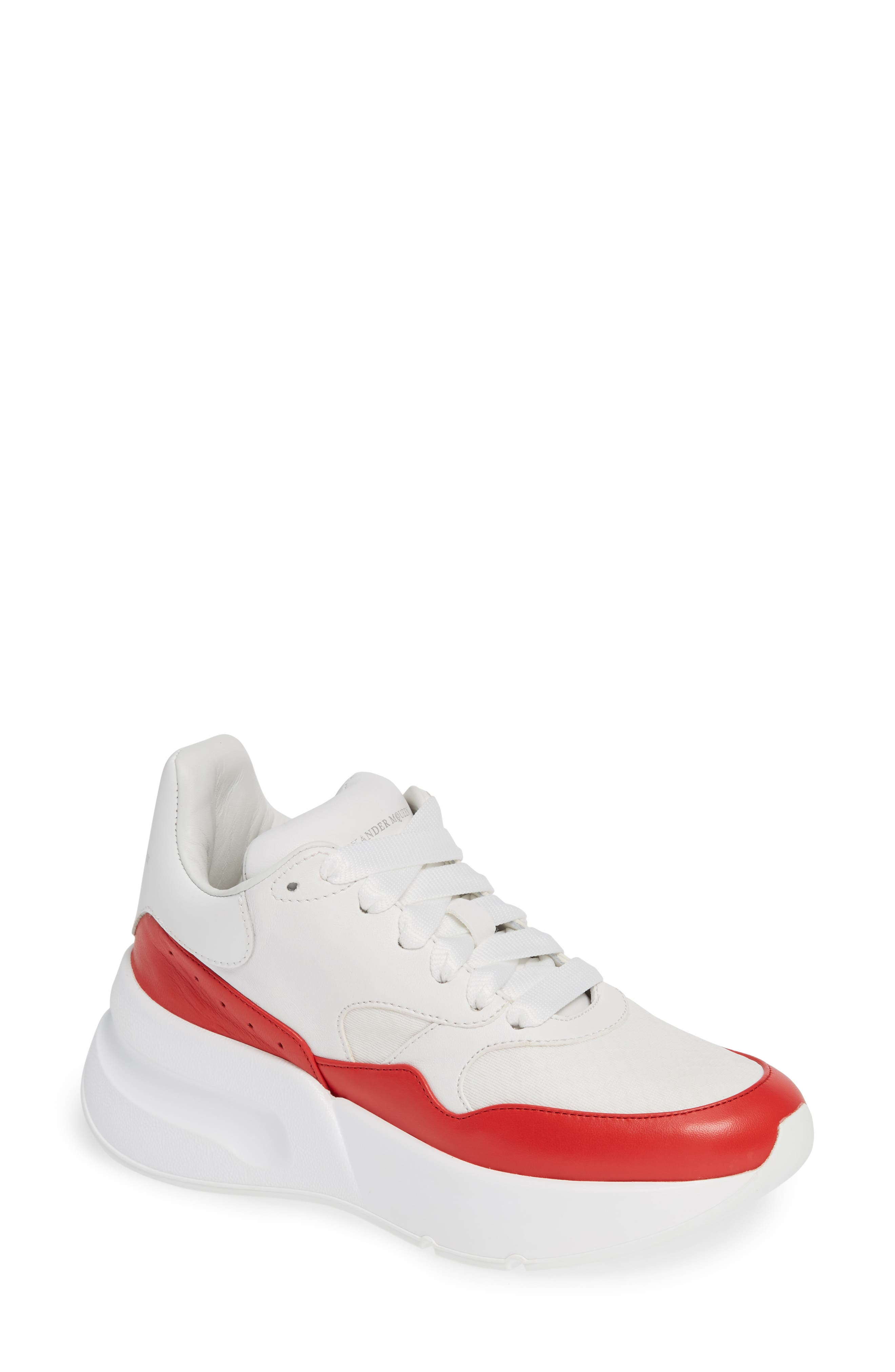 Alexander Mcqueen Oversized Lace-Up Sneaker - White