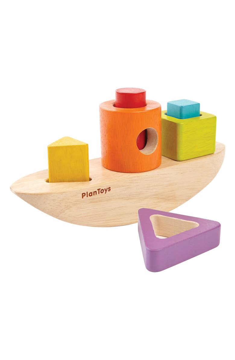 PLANTOYS<SUP>®</SUP> Sorting Boat 7-Piece Wooden Play Set, Main, color, 200