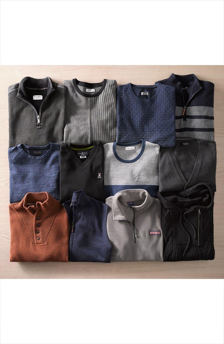 TOMMY BAHAMA 'Flip Side' Reversible Quarter Zip Pullover, Main, color, 051