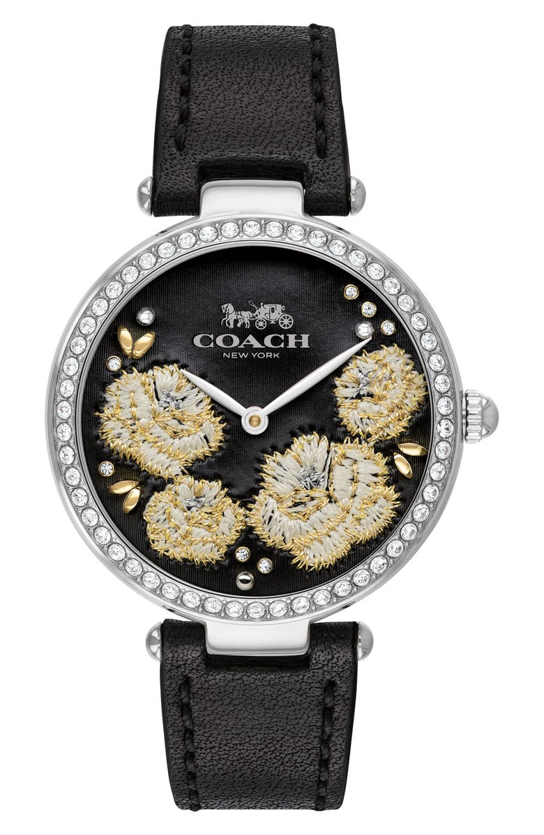 COACH Park Leather Strap Watch 34mm