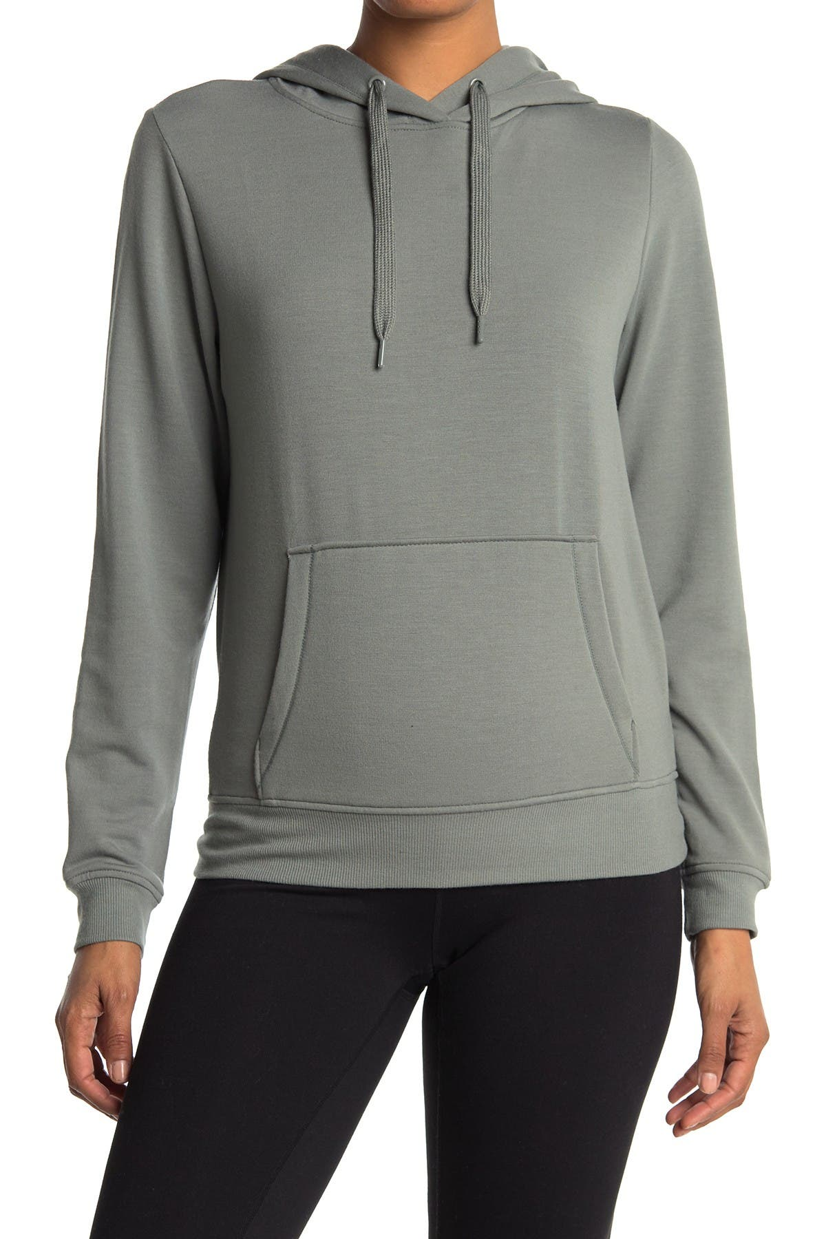 Image of 90 Degree By Reflex Terry Brushed Pullover Hoodie