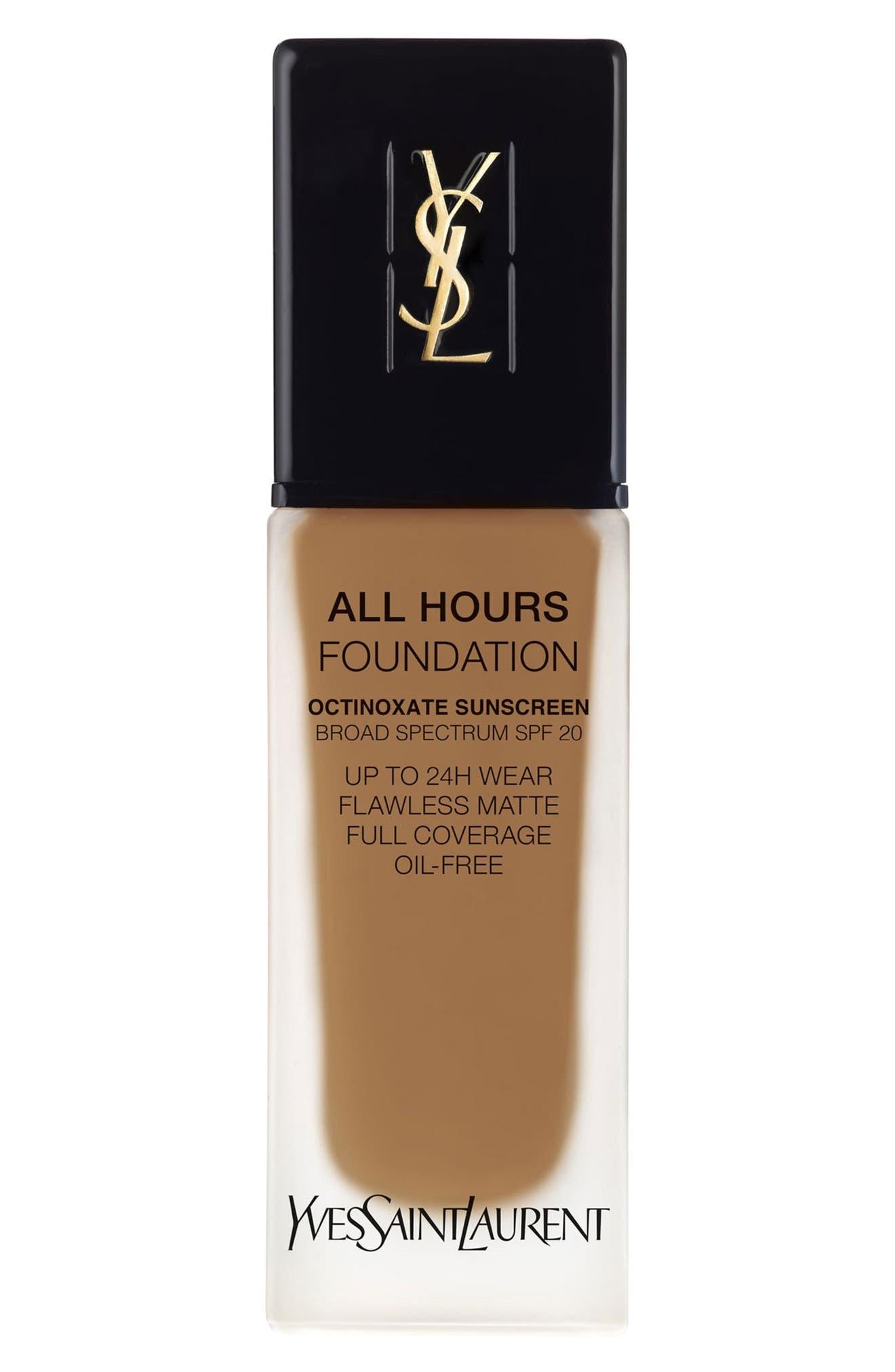 Yves Saint Laurent All Hours Full Coverage Matte Foundation Spf 20 - Bd75 Warm Hazelnut