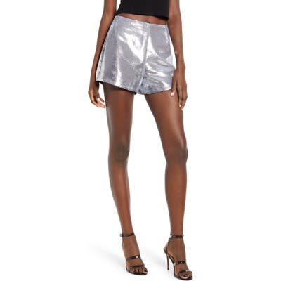 Blanknyc Sequin Shorts, Metallic