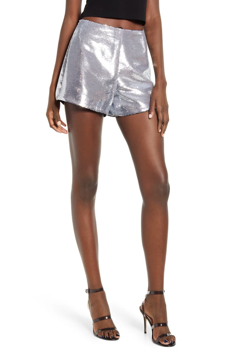BLANKNYC Sequin Shorts, Main, color, ASTROLOGY