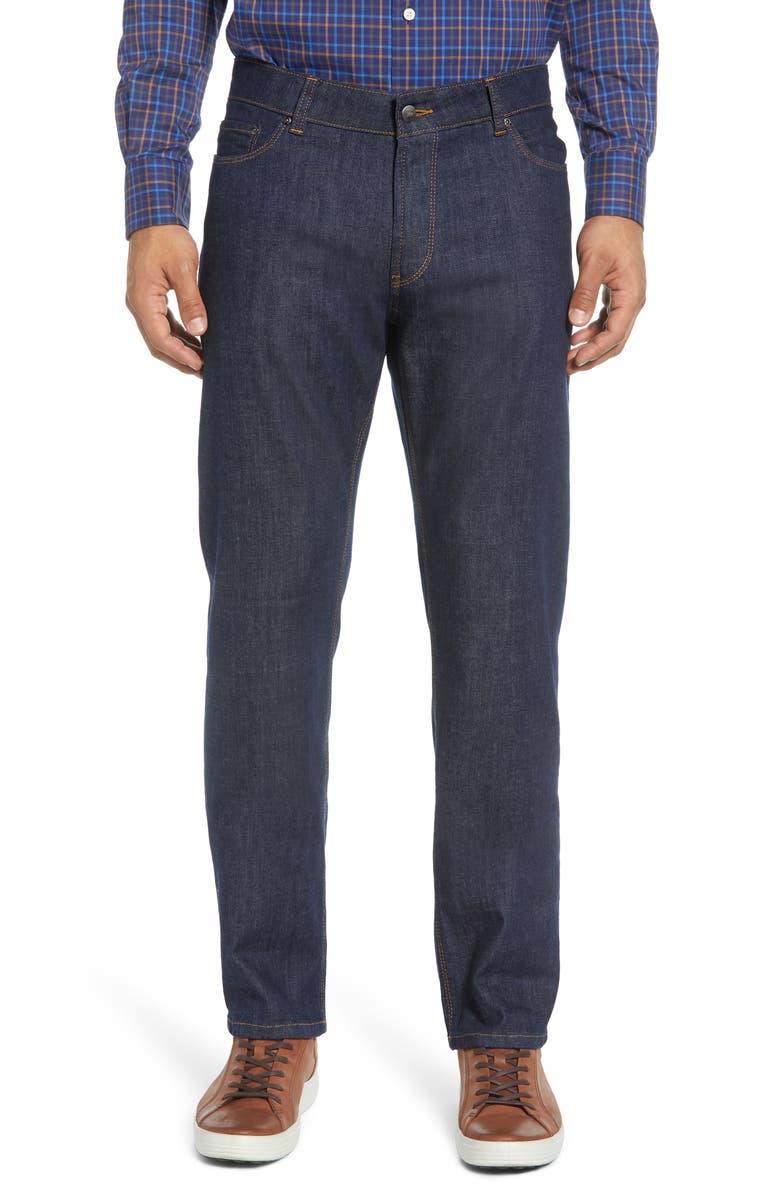 PETER MILLAR Regular Fit Jeans, Main, color, BLUE