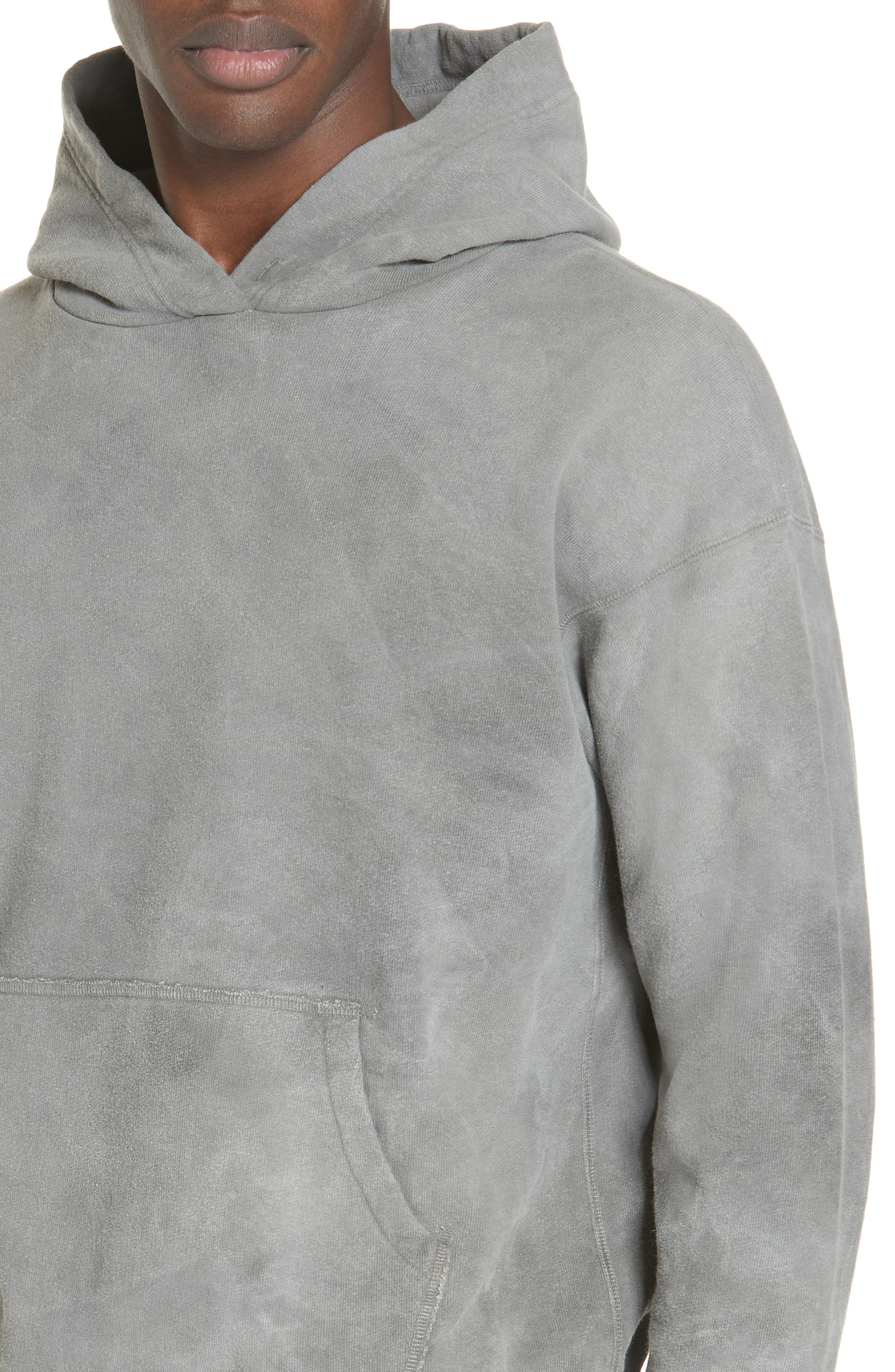 ,                             x Nordstrom Chrome Pullover Hoodie,                             Alternate thumbnail 4, color,                             WASHED BLACK