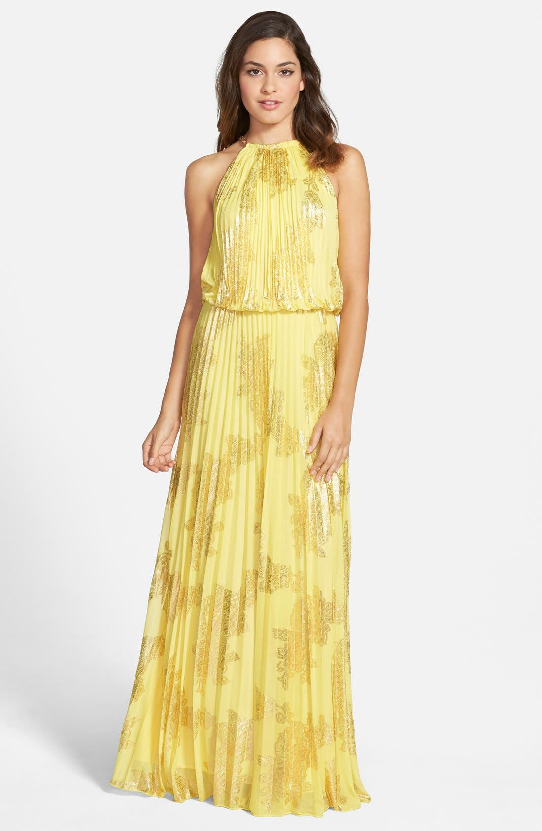 ,                             Foiled Pleated Jersey Blouson Dress,                             Main thumbnail 21, color,                             728