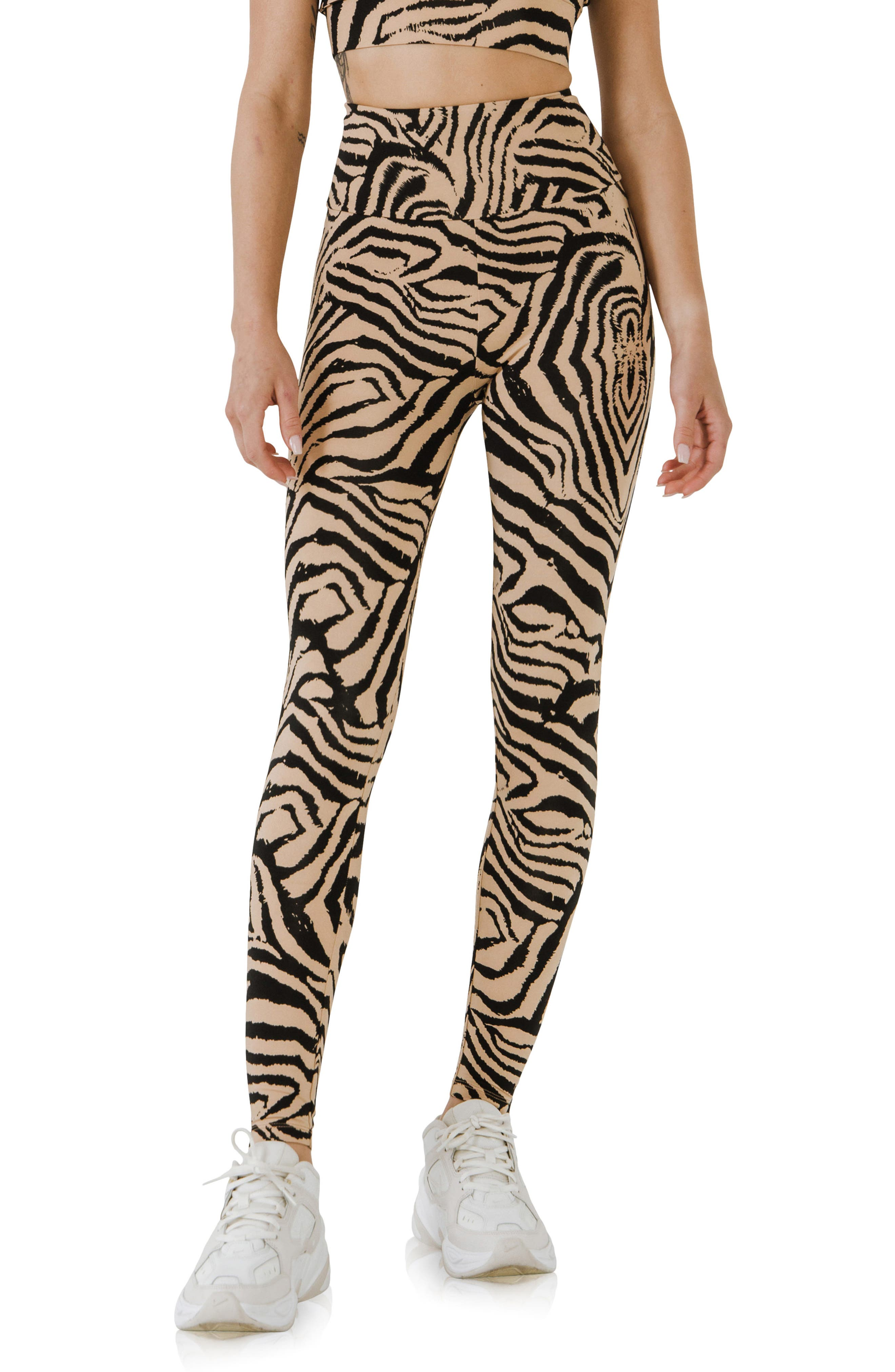 Animal Print High Waist Leggings