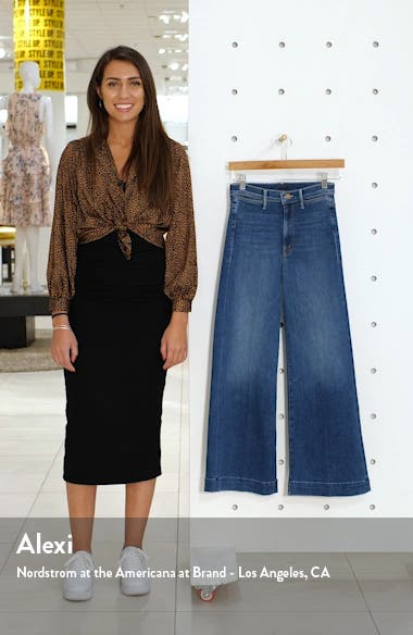 The Swooner Roller High Waist Wide Leg Jeans, sales video thumbnail