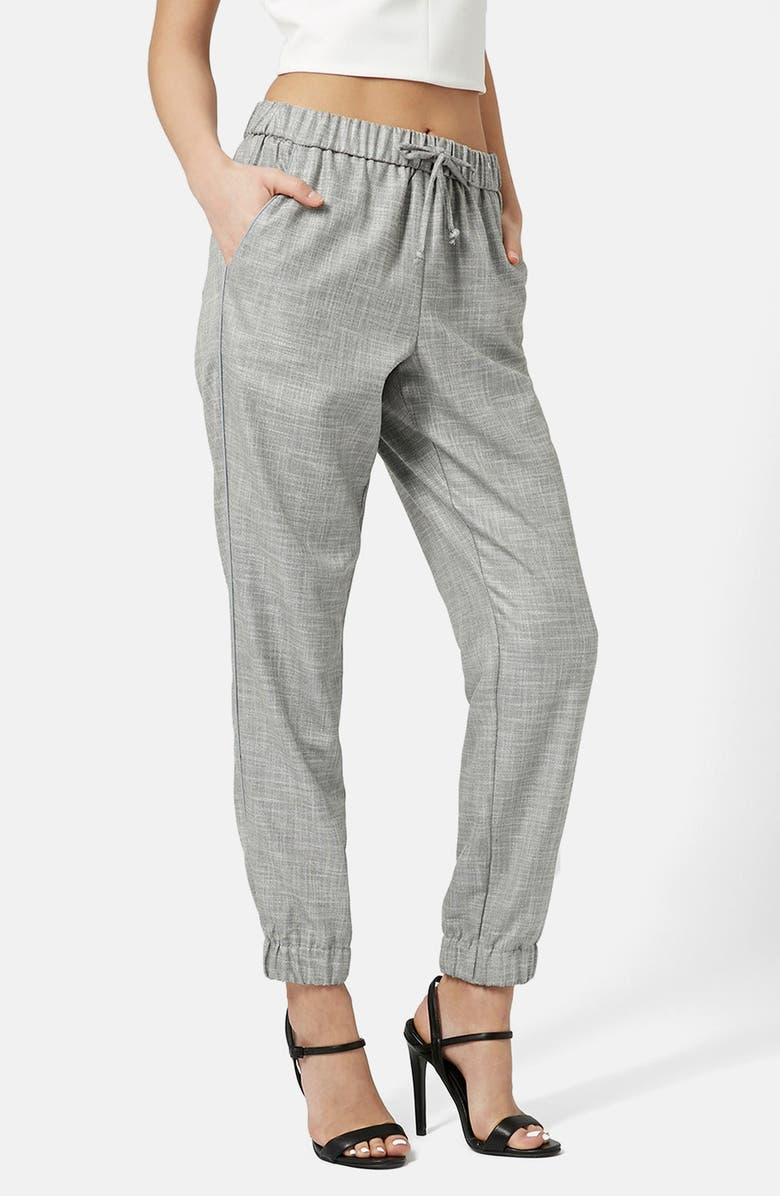 TOPSHOP Piped Drawstring Joggers, Main, color, 050