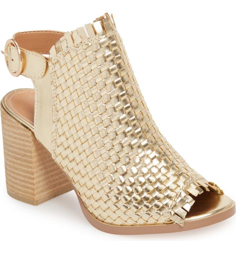 VERY VOLATILE Starla Woven Sandal, Main, color, GOLD