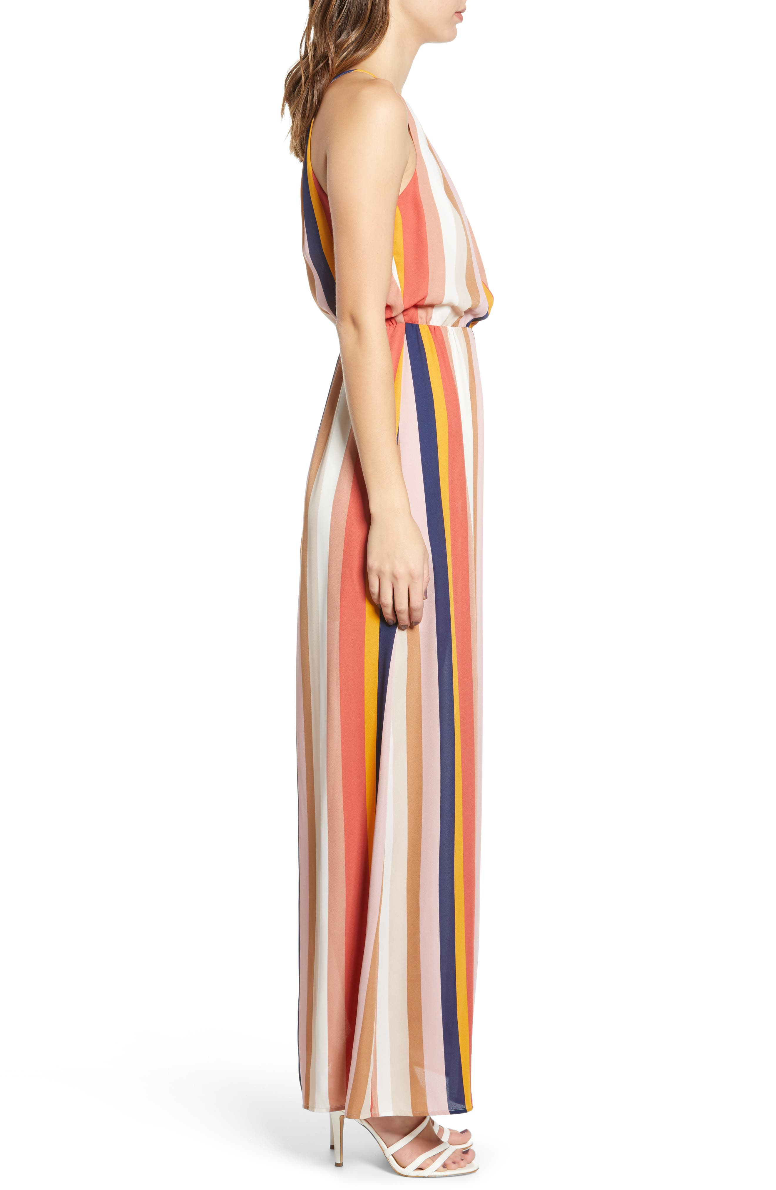 ,                             Blouson Maxi Dress,                             Alternate thumbnail 4, color,                             200